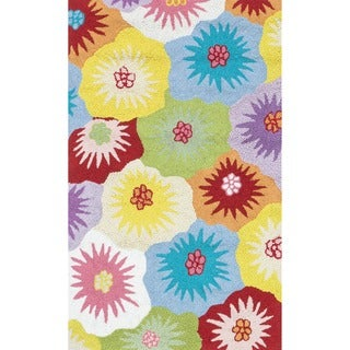 Hand-hooked Peony Multi Floral Rug (2'3 x 3'9)