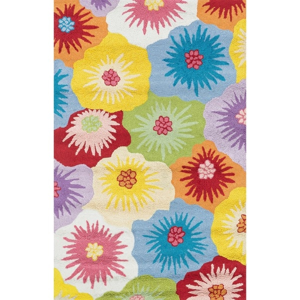 Hand-hooked Peony Multicolor Floral Rug (3'6 x 5'6)