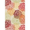 Peony Transitional Multicolor Floral Rug (5' x 7'6)