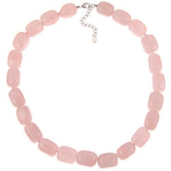 Pearlz Ocean Sterling Silver Rose Quartz Necklace