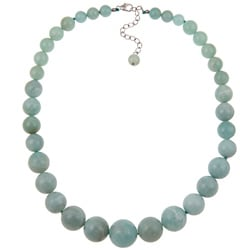 Pearlz Ocean Sterling Silver Amazonite Journey Necklace