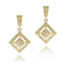 Icz Stonez 14k Yellow Goldplated Cubic Zirconia Diamond-shaped Earrings