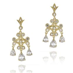 Icz Stonez 14k Yellow Goldplated Cubic Zirconia Chandelier Earring