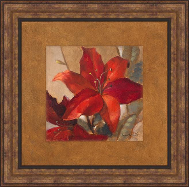 Lanie Loreth 'Crimson Fleurish II' Framed Print Art