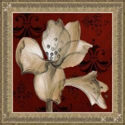 Lanie Loreth 'Amaryllis on Red' Framed Print Art