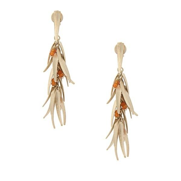 Rivka Friedman Orange Quartzite Chili Dangle Earrings