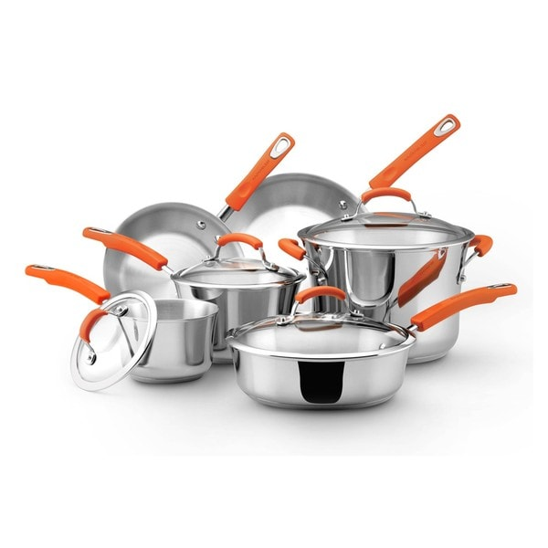 Rachael Ray Stainless Steel II 10-piece Cookware Set 8366072