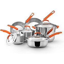 Rachael Ray Stainless Steel II 10-piece Cookware Set with $20 Mail-in Rebate