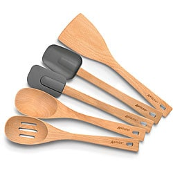 Anolon Advanced 5-piece Beech Wood Kitchen Tool Set