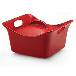Rachael Ray Red Stoneware 3.5-quart Covered Square Casserole Dish