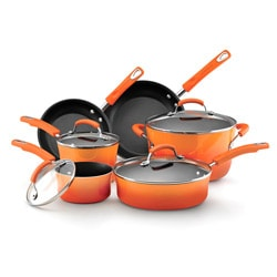 Rachael Ray Orange Porcelain II Nonstick 10-piece Cookware Set with $20 Mail-in Rebate