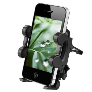 Black PVC Adjustable Universal Car Air Vent Cell Phone Holder
