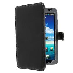 Black Leather Case for Samsung Galaxy Tab P1000
