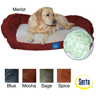 Serta Memory Foam Lounge Bolster Pet Bed
