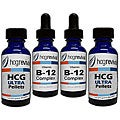 HCG Ultra Alternative Pellets 43-day Program Couples Kit with Vitamin B12