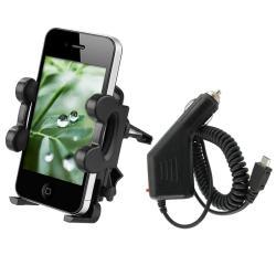 INSTEN Car Vent Holder/ Car Charger for Motorola Droid 2/ Atrix 4G