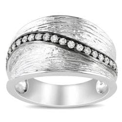 Miadora Sterling Silver 1/4ct TDW White Diamond Ring (G-H, I2-I3)