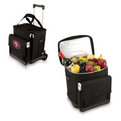 Picnic Time Black San Francisco 49ers Cellar with Trolley