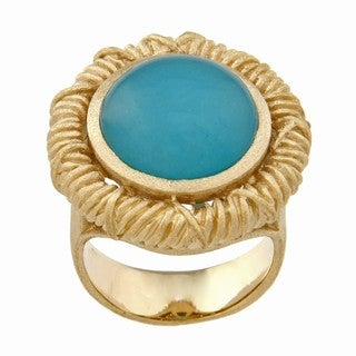Rivka Friedman Caribbean Blue Quartzite Ring