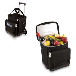 Picnic Time Black New England Patriots Cellar with Trolley
