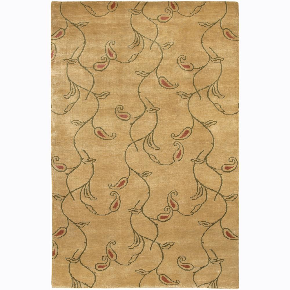 Hand-knotted Mandara Floral Wool Rug (2' x 3')