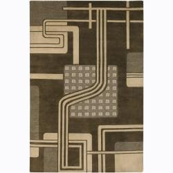 Hand-knotted Mandara Wool Area Rug (5' x 7'6)