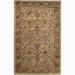 Hand-Tufted Traditional Mandara New Zealand Wool Rug (7'9 x 10'6)