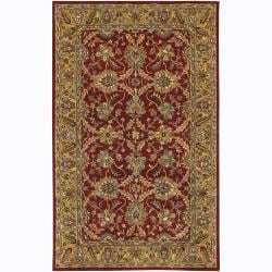 Hand-Tufted Oriental Mandara New Zealand Wool Area Rug (7'9 x 10'6)