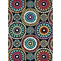 Hand-tufted Caulfield Black Circles Rug (5' x 7'6)