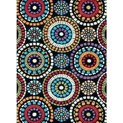 Hand-tufted Caulfield Black Circles Rug (7'9 x 9'9)