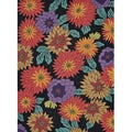 Hand-tufted Caulfield Black Floral Rug (5' x 7'6)