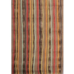 Hand-tufted Caulfield Brown Multi Rug (7'9 x 9'9)