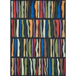 Hand-tufted Caulfield Black Multi Rug (7'9 x 9'9)