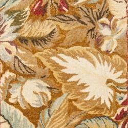 Handmade Autumn Multi Hand-spun Wool Rug (3' x 5')