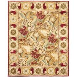 Handmade Autumn Multi Hand-spun Wool Rug (9' x 12')
