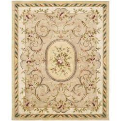 Safavieh Handmade Aubusson Beige Hand-spun Wool Rug (9'6 x 13'6)