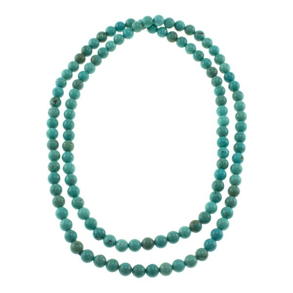 Pearlz Ocean Turquoise Howlite Endless Necklace
