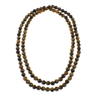 Pearlz Ocean Yellow Tiger's Eye Endless Necklace