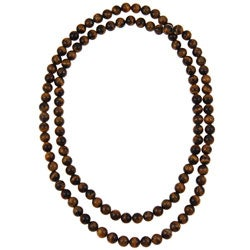 Pearlz Ocean Yellow Tiger's Eye 36-inch Endless Necklace