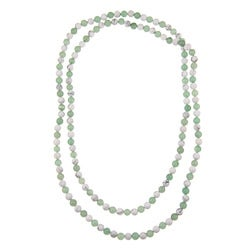 Pearlz Ocean Howlite and Green Aventurine 50-inch Endless Necklace