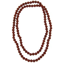 Pearlz Ocean Red Jasper 36-inch Endless Necklace
