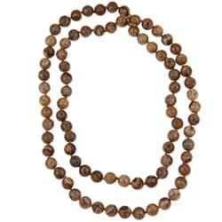Pearlz Ocean Picture Jasper Knotted Endless Necklace