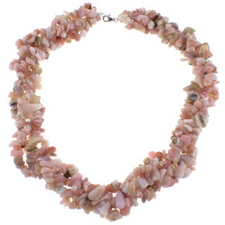Pearlz Ocean Pink Opal Chip Necklace
