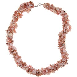 Pearlz Ocean Sterling Silver Pink Opal Chip Necklace
