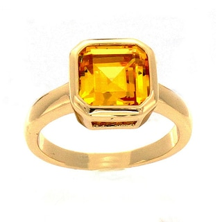 NEXTE Jewelry 14k Gold Overlay Yellow Cubic Zirconia Solitaire Ring
