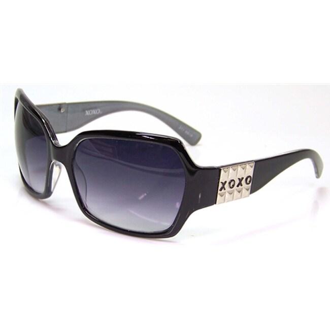 XOXO Women's Twilight Black Fashion Sunglasses