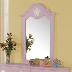 Pink/ White Flower Mirror