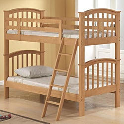 Maple Finish Twin-size Bunkbed