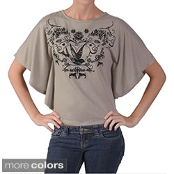 Adi Designs Juniors Butterfly-sleeve Graphic Print Tee