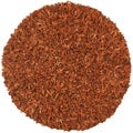 Hand-tied Pelle Copper Leather Shag Rug (4 Round)